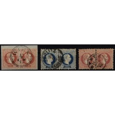 1867 3PAARE! Interessantes Lot!
