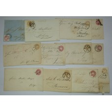 186. 11Stk. Briefe+1Stk. Brief-Vorderseite! Interessantes Lot!