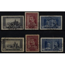 Austria Bosnia 1917 121-123A and 121-123B (perf:11 1/2) used sets, Cv:48,-€