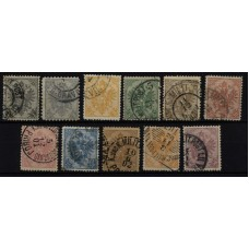 Austria Bosnia 1900 10-20, complete set, used, Cv:62,-€
