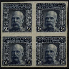 Austria Bosnia 1906 44, IMPERF! 4-BLOCK, mint * Cv:ca.60,-€