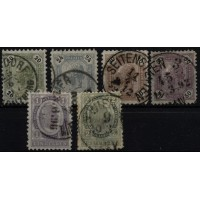 Austria 1891/96 63-68, Imperial crown, complete set, used, 75,-€