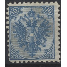 Austria Bosnia Military 1879 10kr, LITOGRAPHY, Perf:10 1/2, mint, CV:187,-€