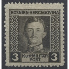 Austria Bosnia Military 1917 124C, 3H, Perf:12 1/2:11 1/2, mint * CV:200,-€