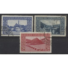 Austria Bosnia Military 1912 61-63, compl. Used set, CV:50,-€