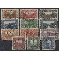 Austria Bosnia Military 1906 29-44, 12pc used, Perf:9 1/4, RARE! CV:315,-€