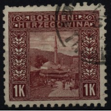 Austria BOSNIA MILITARY 1906 42C, Perf.9 1/4, used stamp
