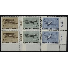 Austria good lot MNH-VF stamps, FLYING