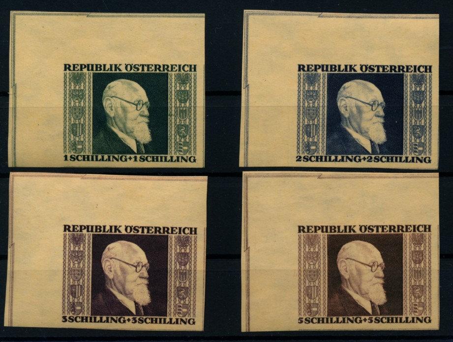 Österreich 1946 780B-783B ECRANDSTÜCKE! RENNER, kompl. Satz, postfr.** Kw:320,-€ - Eberau, Österreich - Money back. - Eberau, Österreich