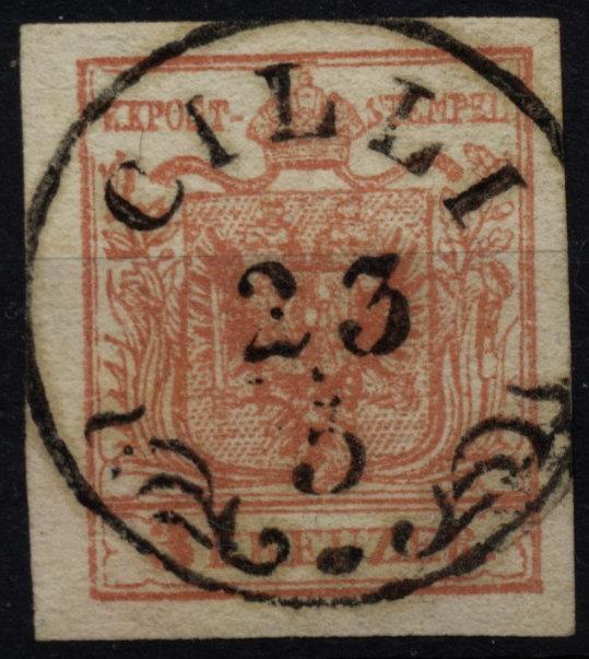 1850 3kr, MP, Type III. Dickes Papier! CILLI (St) Sehr schön! - <span itemprop=availableAtOrFrom>Eberau, Österreich</span> - 1850 3kr, MP, Type III. Dickes Papier! CILLI (St) Sehr schön! - Eberau, Österreich