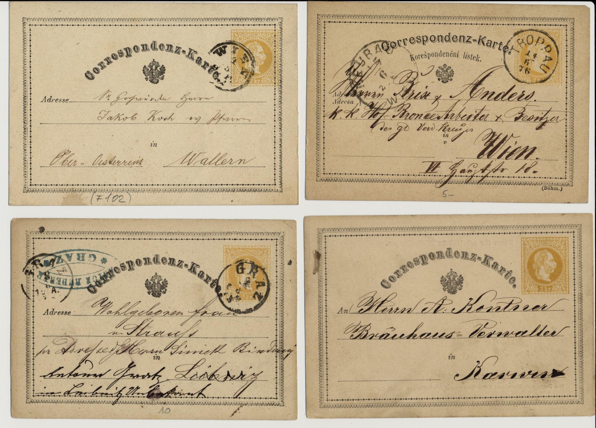 187.- 4 Korr-Karten! Interessantes Lot! - <span itemprop='availableAtOrFrom'>Eberau, Österreich</span> - 187.- 4 Korr-Karten! Interessantes Lot! - Eberau, Österreich