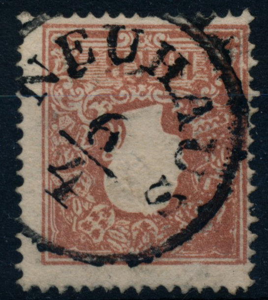 Österreich 1858 10kr, Type II. NEUHAUS (B) - Eberau, Österreich - Money back. - Eberau, Österreich