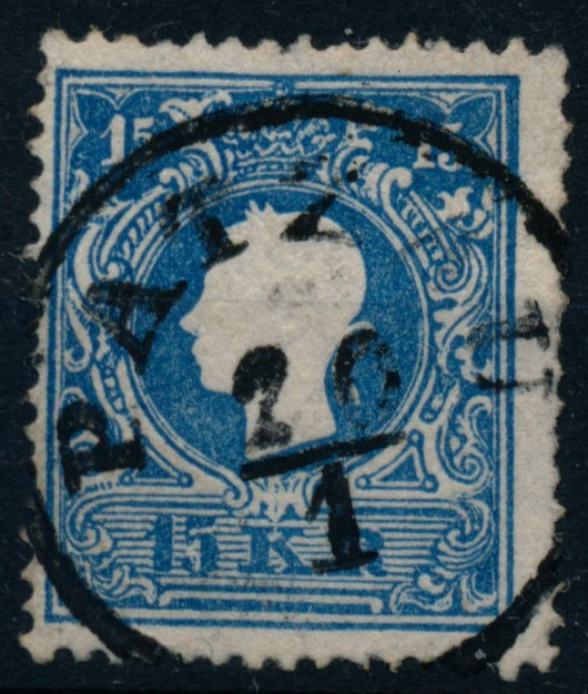 Österreich 1858 15kr, Type II. Flächig hell, PATZAU (B) Mü:20P! - Eberau, Österreich - Money back. - Eberau, Österreich