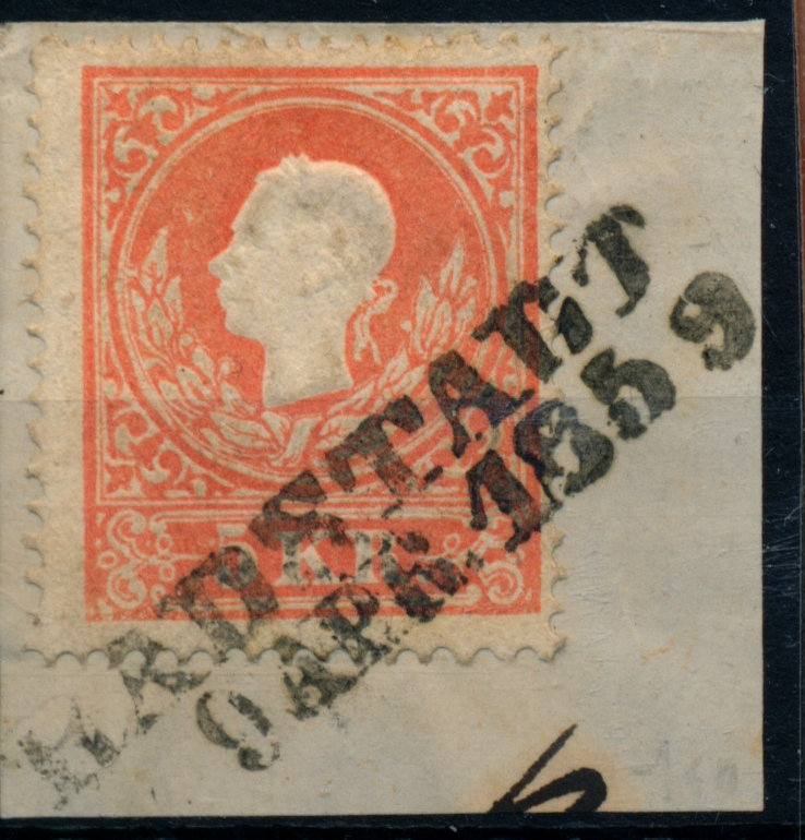 Österreich 1858 5kr, TYPE I.! RADSTADT/1859 (S) Mü:100P! Sehr schön! - Eberau, Österreich - Money back. - Eberau, Österreich