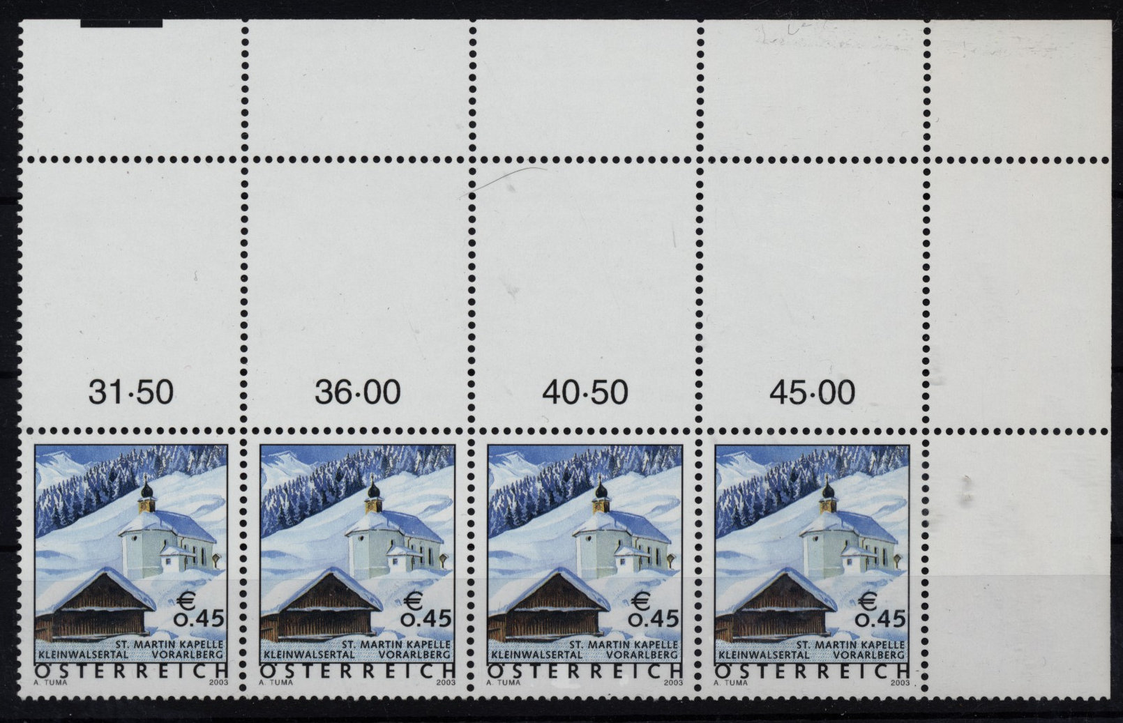 Austria 2003 ANK 2488. vacation country Austria. Strip of 4! MNH-VF ** - Eberau, Österreich - Austria 2003 ANK 2488. vacation country Austria. Strip of 4! MNH-VF ** - Eberau, Österreich