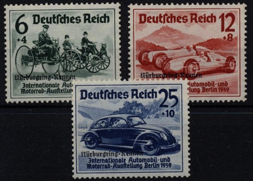 DR 1939 ANK 695-697, Nürburnring-Rennen, Satz, postfrisch ** Kw:300,-€