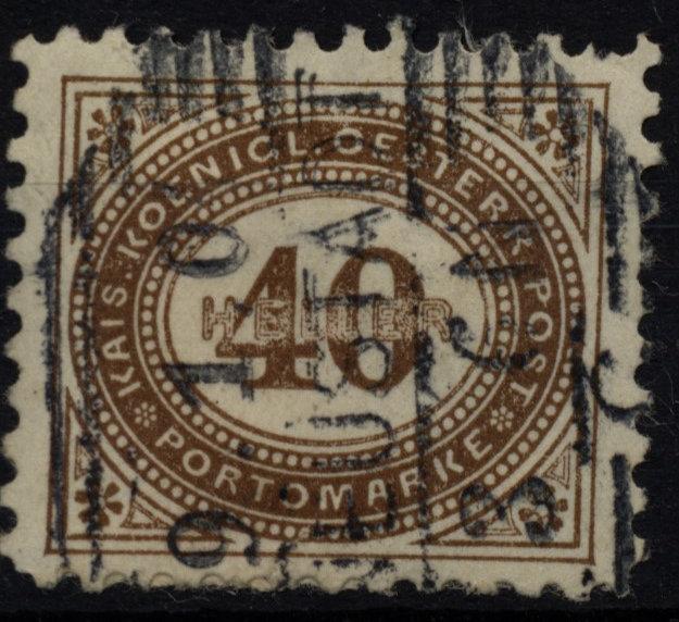 1900 PORTO ANK 32B, 10 1/2, gestempelt - Eberau, Österreich - 1900 PORTO ANK 32B, 10 1/2, gestempelt - Eberau, Österreich