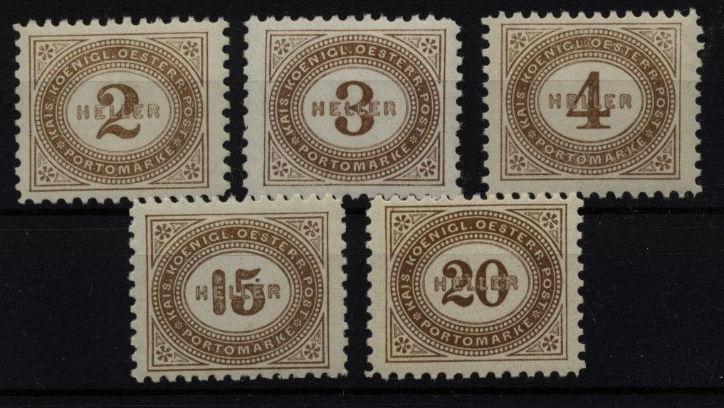 1900 PORTO ANK 22-33B, 5Stk. (Lz 10 1/2) postfrisch ** Kw:232,-€ - Eberau, Österreich - 1900 PORTO ANK 22-33B, 5Stk. (Lz 10 1/2) postfrisch ** Kw:232,-€ - Eberau, Österreich