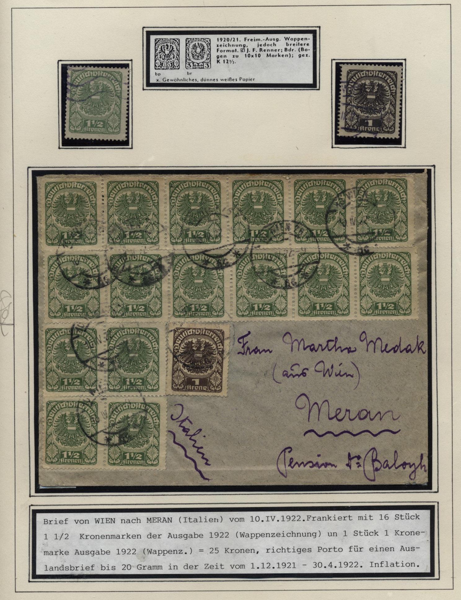 Brief Nach Wien Versenden : Österreich auslandsbrief wien nach meran italien